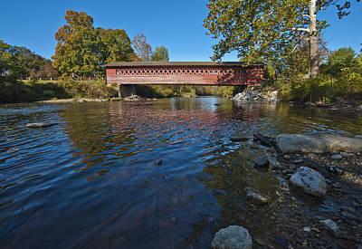 Photograph - Henry Covered Bridge by Rick Hartigan