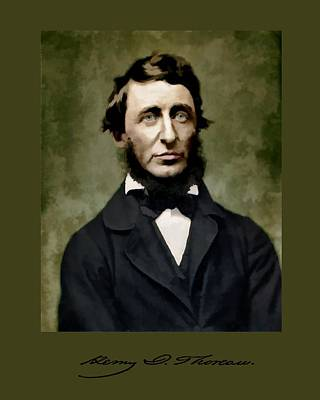 Henry David Thoreau Art Print by John Feiser