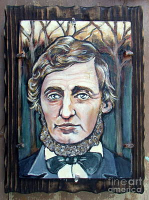 Painting - Henry David Thoreau by Patience A
