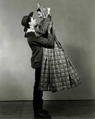 Loving Couple Photograph - Henry Fonda Lifting June Walker by Florence Vandamm