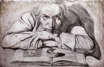 Self-portrait Drawing - Henry Fuseli (1741-1825) by Granger