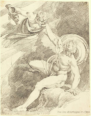 Henry Fuseli, Swiss 1741-1825, The Rape Of Ganymede Art Print by Litz Collection