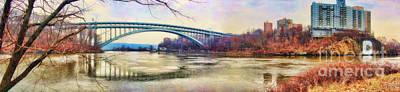 Land Scape Digital Art - Henry Hudson Bridge And The Palisades by Nishanth Gopinathan