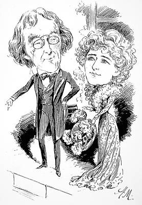 Parody Drawing - Henry Irving (1838-1905) by Granger