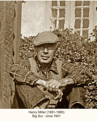 Photograph - Henry Miller Author Big Sur California Circa 1941 by California Views Mr Pat Hathaway Archives