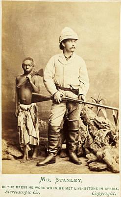 Herald Photograph - Henry Morton Stanley, Journalistexplorer by Science Source