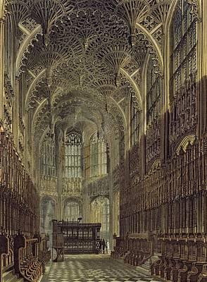 Henry The Seventh Chapel, Plate 8 Art Print by Frederick Mackenzie