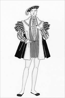 Male Digital Art - Henry Viii Style Clothing by Claire Avery