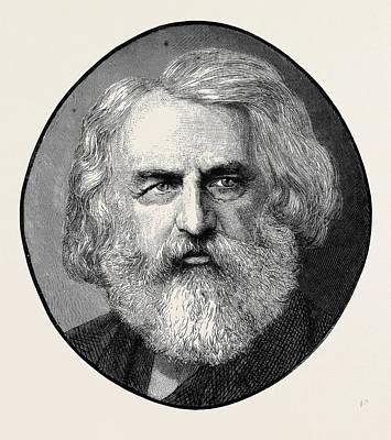 Henry Wadsworth Longfellow, Born February 27 Art Print by English School