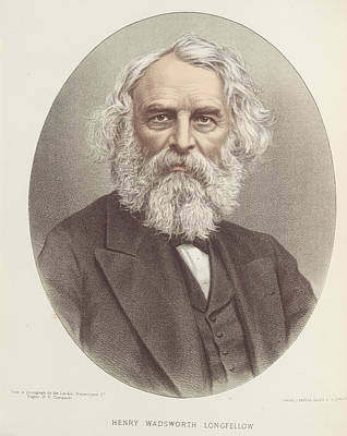 Henry Wadsworth Longfellow Art Print by British Library