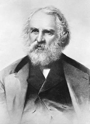 Longfellow Photograph - Henry Wadsworth Longfellow by Underwood Archives