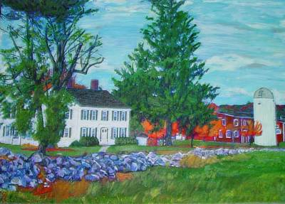 Henry Warren House And Barn Art Print