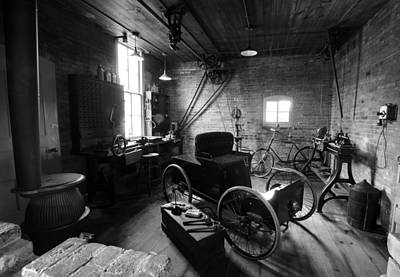 Henrys Garage  Art Print by Paul Cannon