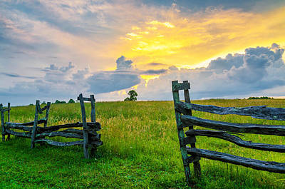 Split Rail Fence Photograph - Rapture by Anthony Heflin