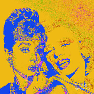 Photograph - Hepburn And Monroe 20130331v2 Square by Wingsdomain Art and Photography
