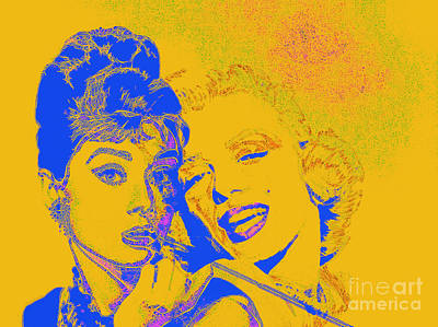 Photograph - Hepburn And Monroe 20130331v2 by Wingsdomain Art and Photography