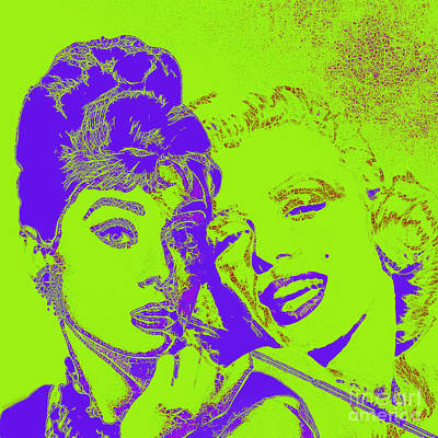 Photograph - Hepburn And Monroe 20130331v2p38 Square by Wingsdomain Art and Photography