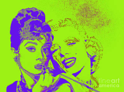 Photograph - Hepburn And Monroe 20130331v2p38 by Wingsdomain Art and Photography