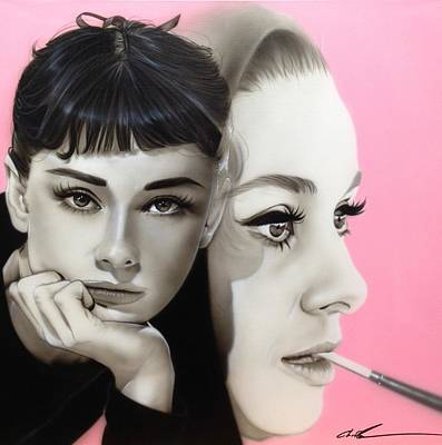 Popular People Painting - Audrey Hepburn - ' Hepburn ' by Christian Chapman Art