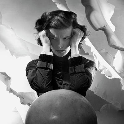 Academy Photograph - Hepburn Pout by Cecil Beaton