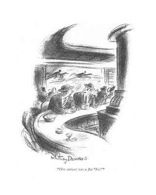 Punch Drawing - Her Answer Was A ?at 'no.' by Whitney Darrow, Jr.