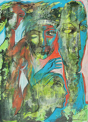 Her Avatars Print by Floria Varnoos