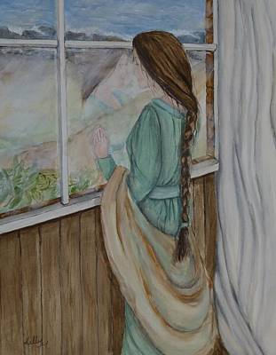 Painting - Her Dreams Are Out There Somewhere by Kelly Mills