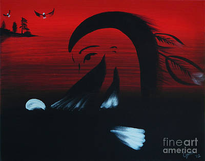 Painting - Her Eagle Spirit by A Cyaltsa Finkbonner