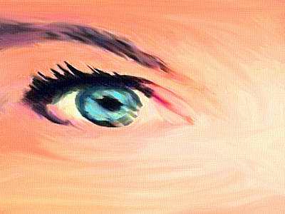 Painting - Her Eyes by Dennis Buckman