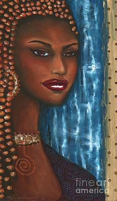 African-american Mixed Media - Her Eyes Have It by Alga Washington