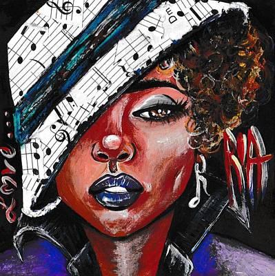 Her First Love...music Art Print