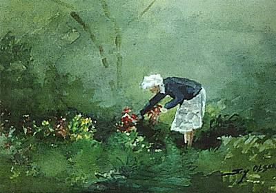 Her Flowers Art Print