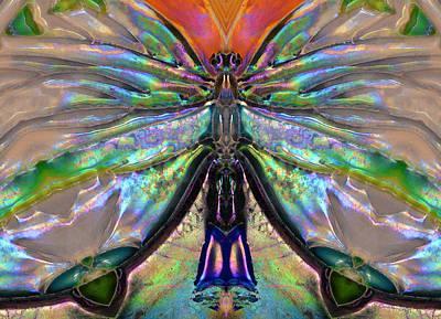 Her Heart Has Wings - Spiritual Art By Sharon Cummings Art Print by Sharon Cummings