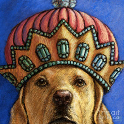 Retrievers Mixed Media - Her Highness by Kathleen Harte Gilsenan