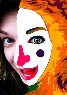 Photograph - Her Inner Clown . . . Transformed Face by I'ina Van Lawick