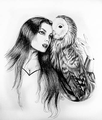Drawing - Her Loyal Companion by Scarlett Royal