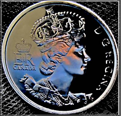 Canadian Er Photograph - Her Majesty Elisabeth The Second  Coin by Danielle  Parent