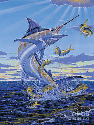 Striped Marlin Painting - Her Majesty Off0028 by Carey Chen
