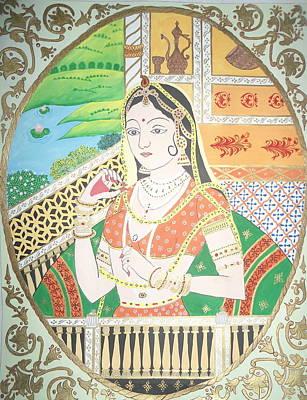 Pahari Painting - Her Majesty by Shweta Joshi