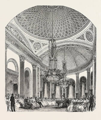 Buckingham Palace Drawing - Her Majestys Concert, Buckingham Palace by English School
