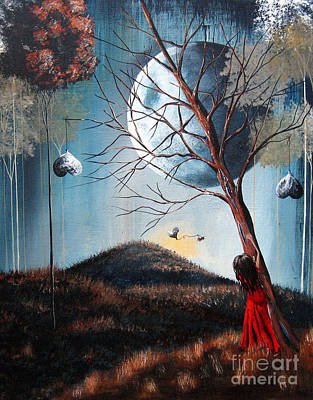 Fantasy Tree Art Painting - Fantasy Art Print By Shawna Erback by Shawna Erback