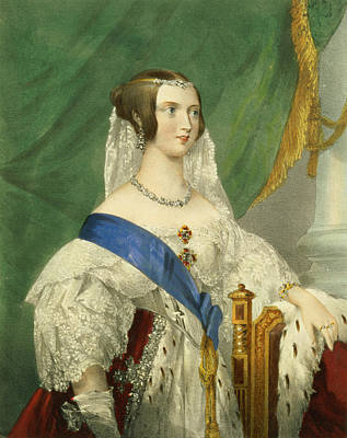 Lace Drawing - Her Most Gracious Majesty, Queen by George Howard