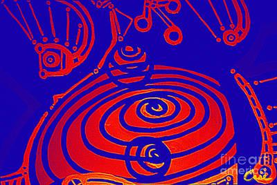 Digital Art - Her Navel Gravity Vibrates Pulsates  by Feile Case