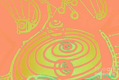 Digital Art - Her Navel Peach Vibrates Pulsates  by Feile Case