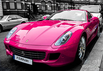 Photograph - Her Pink Ferrari by Matt Malloy