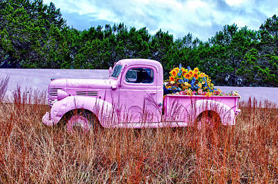 Photograph - Her Pink Truck by Renee Sullivan