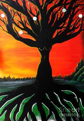Painting - Her Roots Run Deep by A Cyaltsa Finkbonner
