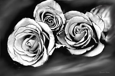 Her Roses Art Print by Bonnie Willis