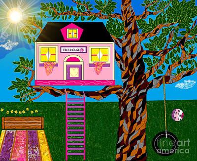 Digital Art - Her Tree House by Lewanda Laboy