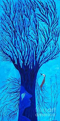Painting - Her Tree Of Life  by Jean Fry
